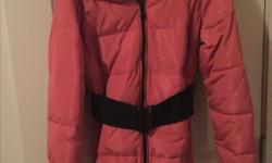 Brand new puffer jacket salmon pink never worn size M. Asking $25 *REDUCED* $23