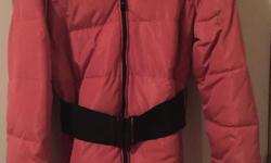 Brand new puffer jacket salmon pink never worn size M asking $25 *REDUCED* $20
