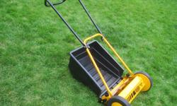"Ginge ""Handy 38"" Reel Lawnmower for Sale. Made in Denmark by Al-Ko Ginge A/S manufacturing with a 15"" reel and a grass catcher. Used, but in good condition. Below is info from the manufacture... Classic lawn tools for a healthier lawn. The clean, precise"