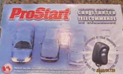 Pro Start remote control car starter for sale.  $40 obo....still in box and has never been used.