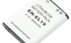 Replacement Battery for Nikon EN-EL19 ENEL19 Battery 800mAh Never run out of battery power when you're just about to capture the perfect moment! Time to get extra power for your digital video camera/camcorder - New and high quality Non-OEM replacement
