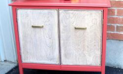 """Fall is in the air...This small buffet/cabinet with its new style became a very contemporary piece of furniture. Subtle, bold, and versatile... The body have been painted with Benjamin Moore """"Moroccan Spice"""" and sealed 3 coats with satin polyacrylic. This"""