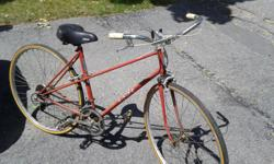 "This is an old cruiser bike that has 27"" tires, 10 speeds. Recently tuned up with new tires and newish spring comfy seat. Pickup in kanata. check out my other ads too. Good for someone 5'6"" to 6'."