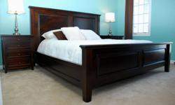 King size headboard, king bed frame, queen bed, queen bed frame, bedroom set queen, bed frame double, solid wood bedroom set, solid wood furniture, Pottery Barn Hudson Bedset   Start loving your bedroom again! Unwind in a stunning solid wood bed, with the