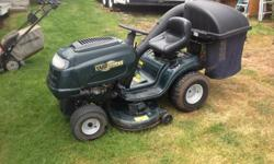 Yard Works, ride on lawn mower, briggs and stratton 17.5 HP, 42 inch cut, Comes with rear bag catcher. 5 plus years old.