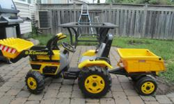 Ride on tractor with trailer by Peg Perrago. Excellent condition. Asking $75.00 or best offer