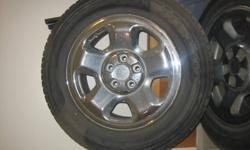 These are the stock tires from a 2006 Honda Ridgeline...they are the base model size with plastic hub caps...$500.   Reply to ad or call 768-7705, if interested. This is for the tires on the stock rims...all four tires and rims.