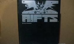Collection of Rifts role playing books. Will sell as a set or separate. Open to offers   Rifts Main Book ( Collecters limited Edition Hardcover) $50 Rifts Conversion book $20 Source Book 1 $10 Source Book 2 :The Mechanoids $10 Source Book 3: Mindwerks