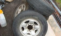 Set of 4 steel rims in great shape. 15 inch FITS all 5 x 5.5inch bolt pattern. CHEVY large bolt 4x4. DODGE large 5 bolt 4x4. Ford large 5 bolt 4x4. All suzuki sidekick/samurai/ gmc/chevy/geo Tracker/ pontiac/asuna sunrunner. Tires have lots of tread Two