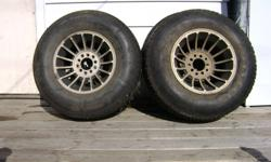 "Four 15"" Aluminum Turbine rims...fit Chevy and other. Nuts and washers incl."