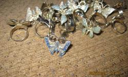 for sale little girls new butterfly & dragonfly rings. around 50 rings for 5.00. liverpool.