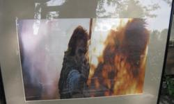 2 still photographs from the movie Robin Hood Prince of Thieves, framed nicely. Orleans. $40 for both.