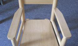 Kids pine rocking chair