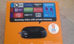 For sale: Item: Roku 2 - US version Condition: Brand new in box Reason for sale: too many media players. Price: $70 - Cash Location: Barrhaven No low baller and story email. If you can read this ad, it means that the product is still avaiable. Please