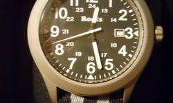I am offering for sale 1 Roots Volt Divers watch.  It is brand new in a leather case, with manuals, really nice.    Please see my other watch ads   If the ad is up they are available