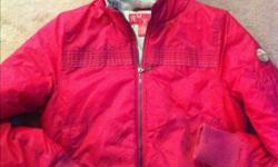 I have a gently used Roxy winter jacket for sale.  This is a women's/teen jacket. Has a fur hood (not detachable). Bright pink in colour, size LARGE (smaller fit).   Comes from a non-smoking, very clean home. Excellent condition!   $15.00 Please respond