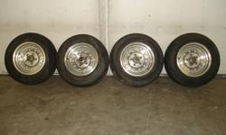 These wheels came off an S-10 2 wheel drive pick-up was doing a rebuilt project on the truck but changed my mind so send it to the crusher but saved the wheels $400.00 obo call 403 505 8531