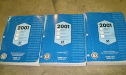 2001 Factory service manuals for S-10, Blazer, Sonoma, Jimmy etc. Also covers most 1998+ models as well. All three books are in great shape and walk through every kind of problem with step-by-step troubleshooting procedures.