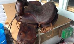 Saddle, needs some TLC and parts replaced. All proceeds go to our charity. For more information please phone rather than email. 250-748-6032