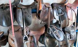 We are spring cleaning the stable and have some used lesson saddles and tack for sale. Western and English, all in servciable shape if not show-ring ready. This is a great opportunity to pick up an inexpensive first saddle or a second set of gear for