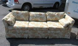 We are selling This Couch and love seat with a floral pattern. We have reduced the asking price on this item as we are making room in our store. Now Asking $90 for the set.   Great Deals always at The Moving Man's General Store located at 367 11th st east