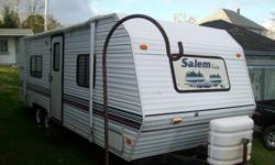 25 ft Salem Lite travel Trailer, excellent condition, sleeps 6, queen size bed, furnace, air conditioner, fridge, stove, micro wave, central stereo system, tv hook up, full bath, with tub and shower, fully loaded, for more information call 902-634-4783