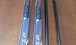 Selling a set of high quality, good condition used nordic classic skis and poles for your little skier: - Salomon Team Racing Grip waxless skis, 131cm - Salomon Flex Jr SNS Profi Auto Junior bindings - Lazl Firefly poles, 100cm, with comfort padded wrist
