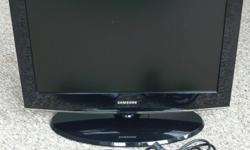 Samsung 22-inch flat panel LCD TV 1680x1050 Model number: LN22A450 Smoke-free and pet-free home. Located near Carling Avenue and Maitland Avenue. Telephone is the best way to contact me 613-596-4932 (Michael).