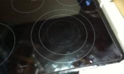 SAMSUNG GLASS TOP FOR STOVE.   HAS A BIT OF PITTED (SCRATCHED) AREA TO THE RIGHT LARGE BURNER, NEVER USED THOUGH!! HAS ALL BURNERS AND PLUGS, YOU JUST HAVE TO PLUG IT IN AND WORKS!!