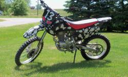 Put a big smile on someone special this Christmas! Check out this very cool 2007 Honda CRF230F, bought brand-new Christmas ?07, original owner. Only driven 2 seasons, never raced, pleasure driven on the trails. Has a new back Dunlop tire, upgraded chain