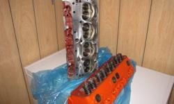 """SBC High Performance Cylinder Heads: Casting #8890462 """"462's"""" 64cc Chambers, 2.02 intakes, Fully Ported & Polished!!! High lift springs, new seals! Completely Fresh. Have been drilled for accessories! These are the heads everyone wishes they had!!!"""