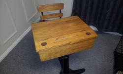Vintage school desk in great condition. Wanting 100 dollars OBO.