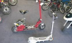 Electric & Gas Scooters on sale starting at just $149 !!! Brand New 49cc Pocketbikes for only $249 !!! SKOOTERZ Serving Ontario since 2005. Quality and service guaranteed !!! The most trusted dealer in Niagara !!! OPEN 11am to 7pm everyday ! 289-296-3438