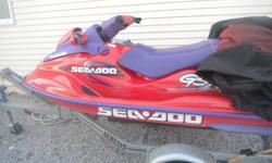 1998 951cc seadoo in excellent shape.lady driven, 2-seater, all winterized.  trailer with new bearing buddys and tires, also in great shape..willing to trade for a truck of equal value $3000 to $3500 --705971-1270...((appr..170hrs))