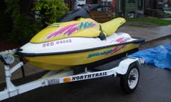 I have for sale a 1996 seadoo hx in excellent condition. It runs on mixed gas and is extremely fast and has great handling. A very fun toy for the summer months. Buy it now and save a few hundred as the price will go up in the spring. The machine is