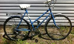 "Vintage Sekine 5 speed cruiser bike. 22"" frame, 26"" rims with brand new tires. Comes with rear rack, bell, kick stand and reflectors. In very good condition, tuned up and ready to ride. Asking $120 or best offer. Can deliver if needed."