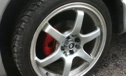 selling 4 17inch rims  rims have 2 good tires 2 bad tires lil curb rack on 1 rim 300 obo i sold my car gist have rims left