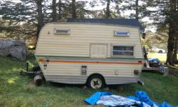 hello i m selling my 17 ft camper it sleeps 3 its in good shape and its got 2 new tires u can hook up a battley to the trailer i m asking 1500.00 or obo  trade for a car or a truck