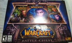 I am selling the World of Warcraft battle chest set because I am receiving it for Christmas so this one is extra, I paid $20 in store , it's unopened it comes with a month of free play, the regular game and the first expansion: Burning Crusade and two