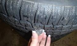 """Set of 4 - 16"""" snow tires on steel rims with 70% tread 5x112 bolt pattern fits 2005 or newer volkswagen $420 obo"""