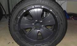 """Set Of 4 rims wheels 6 Bolt Pattern 20"""" Black Chrome Rims Made by: American Racing Rims are in very good condition no dents or curb rash they look awesome! ."""