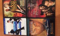 Set of 4 DiCaprio movies DVD The Man in the Iron Mask Aviator Blood Diamond Catch Me If You Can