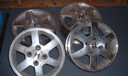 "Set of four 15"" inch aluminum wheels off a 2001 Honda Accord. $195.00 cash or best offer. Great condition.   I will remove add when they sell."