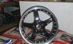 """LIKE NEW 17"""" X 7.5.  Bolt pattern 5 on 4.5 centre with a offset of 42 mm. This mags came off a Dodge Caravan but will fit many other cars/vans trucks etc;  the rims are """"MSRs' made in USA and come with centre caps, and a stand for all 4. open to offers"""