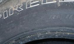 4 tires with 25% or better 255/70/R18make an offer !