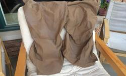 Two tan coloured front car seat covers Material stretches so will fit most cars Clean $10 for the set