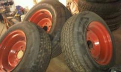 "Set of 15"" chevy truck rally rims on 235/75R-15 and 205/70R-15. Great condition with 60% tread."