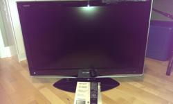 """Sharp 37"""" 720p LCD HDTV Product Details Sharp Aquos LC-37D43U HD LCD TV The elegant AQUOS LC-37D43U LCD television easily enhances the decor of any family room, living room or den. With a true 16:9 aspect ratio, HDTV resolution of 1366 x 768, Sharp's Emmy"""