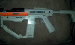 I have a Sharp Shooter Machine gun for the PS3 Move. It was hardly used looks brand new. Games you can use it with are: Killzone 3, Socom 4, & upcoming Resistance 3 and more (doesnt include the Move just the accessory)