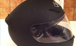 I am selling my Shoei RF-1000 motorcycle helmet that is in excellent condition. Helmet is flat black and does not have any markers or scratches. I have a clear lens as well as a tinted lens for those sunny days. Men's size medium. great Christmas